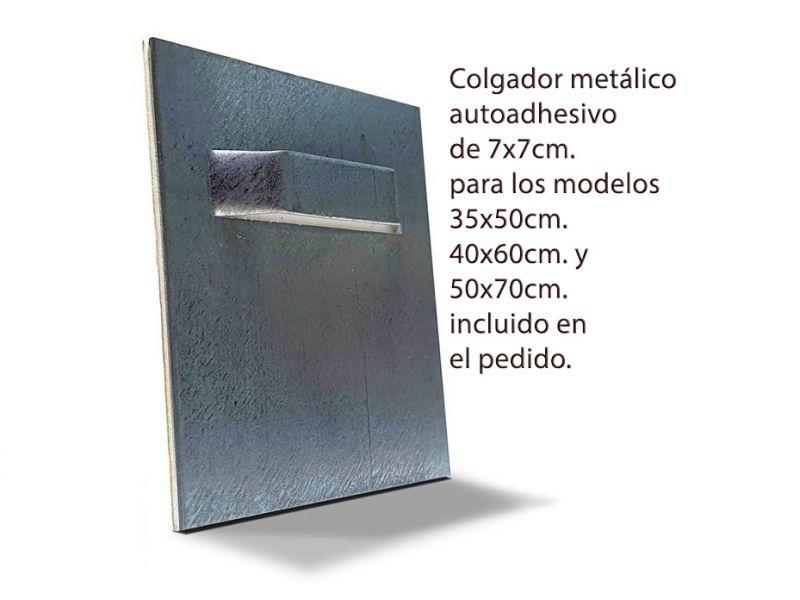 colgador autoadhesivo 7x7cm.