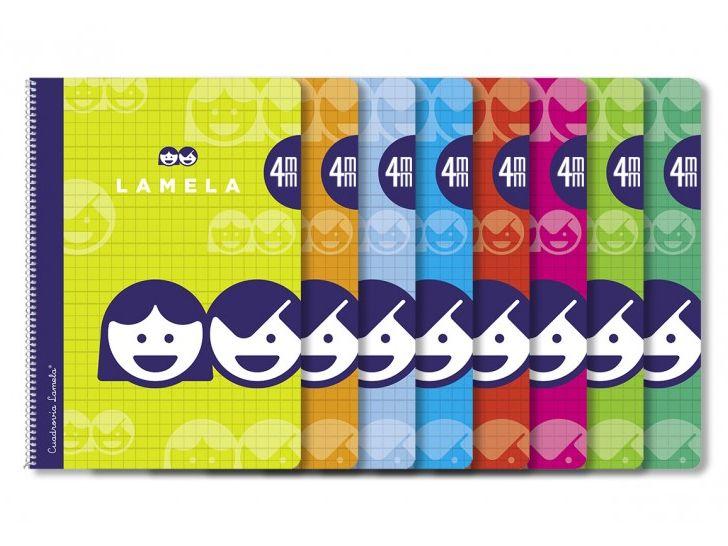 Cuaderno Lamela espiral 4mm. 4º espiral