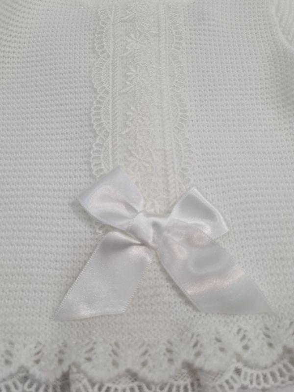 Conjunto bebé 2 piezas blanco con capota