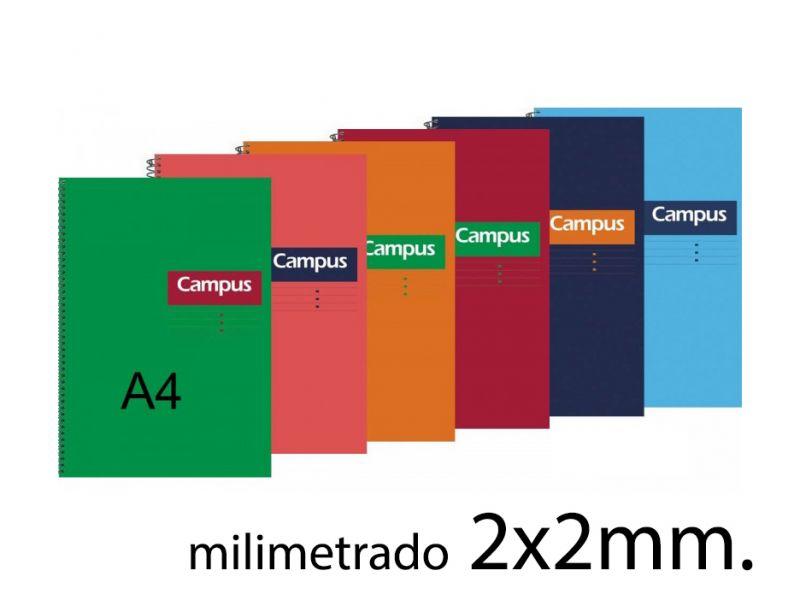 Cuaderno Campus A4 2mm. tapa dura 80 hojas