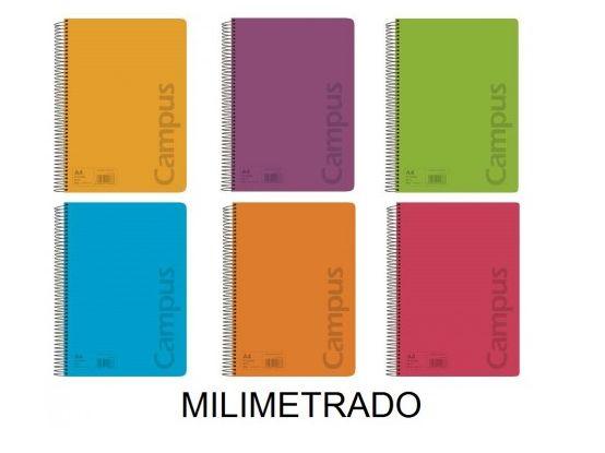 Cuaderno Campus A4 2mm. tapa polipropileno 80 hojas 90g.