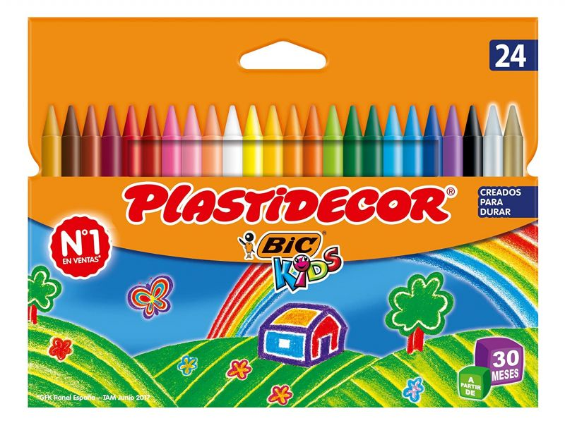 PLASTIDECOR ESTUCHE 24 COLORES