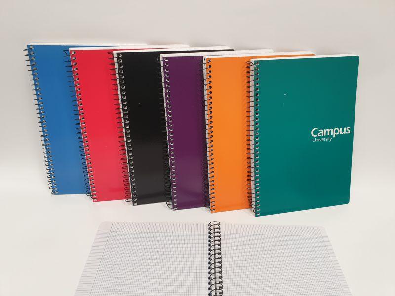 Cuaderno Campus A5 2mm.  tapa dura
