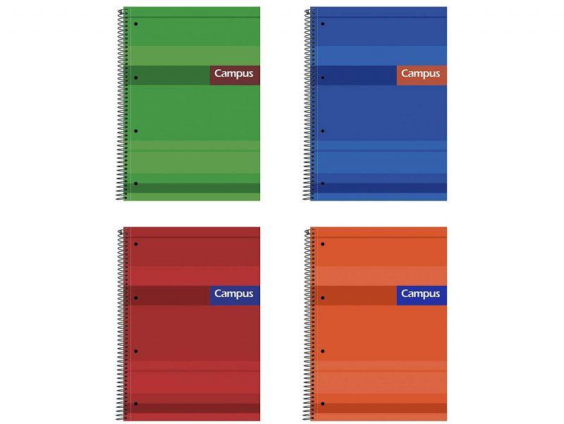 Cuaderno Campus A4 5mm. tapa extradura 160 hojas