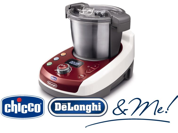Robot de cocina DéLonghi Chicco Rojo