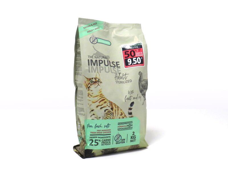 Impulse cat sterilised pollo y arroz