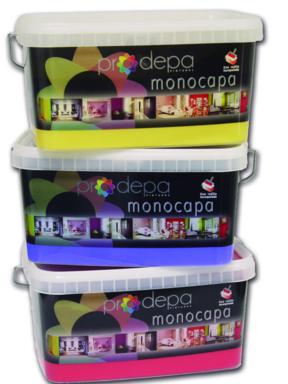 Pintura plástica monocapa