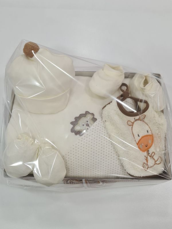 Caja lazo de regalo marfil
