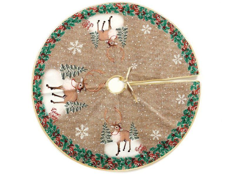 Cubrepie arbol navidad renos