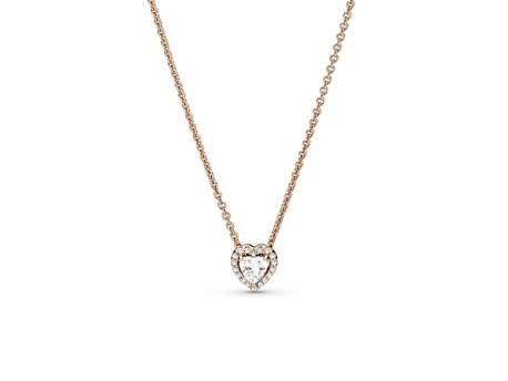 Collar Pandora Rose Corazón Brillante