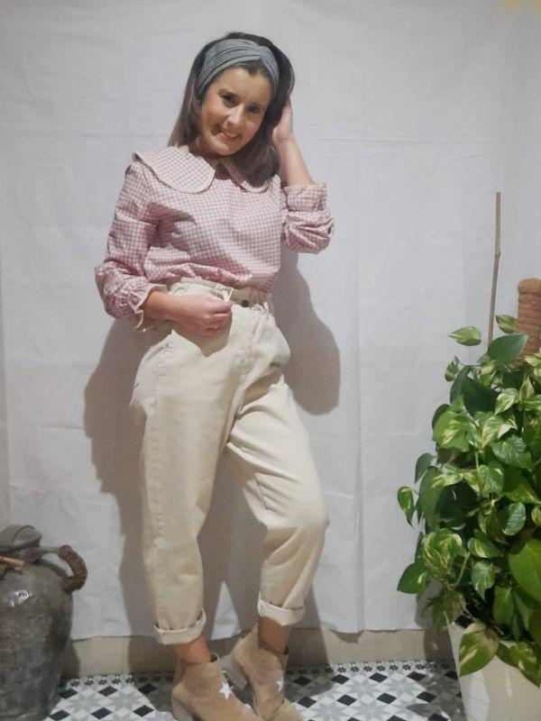 pantalon vaquero beig