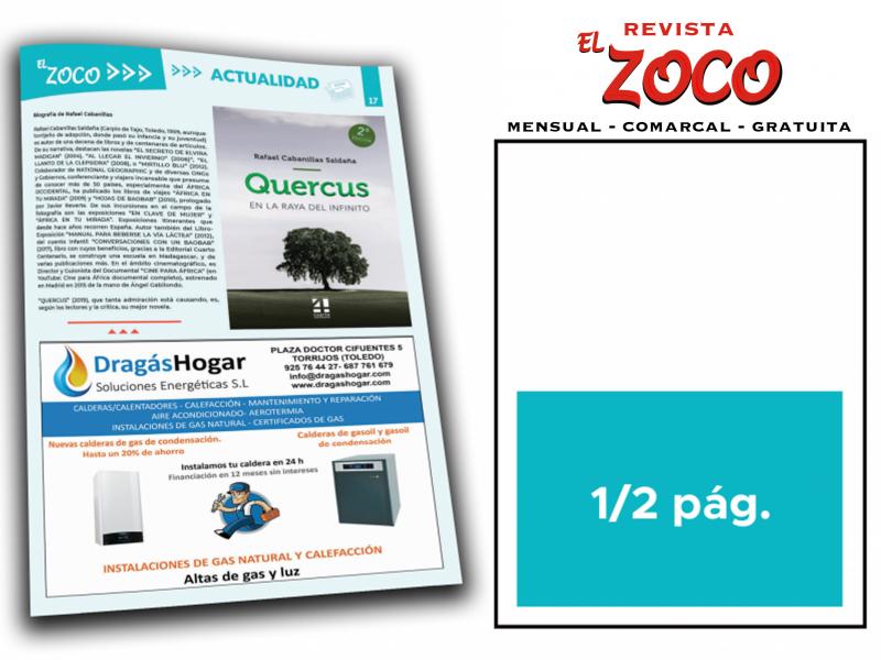 ANUNCIO PUBLICITARIO EN REVISTA EL ZOCO