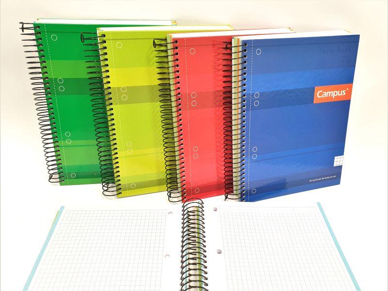 cuaderno campus a5 5mm. tapa extradura 160 hojas