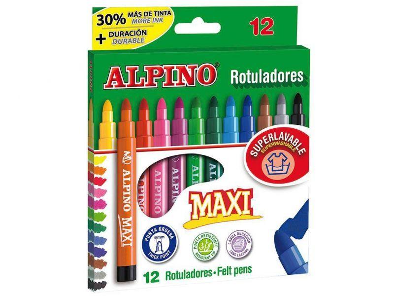 alpino rotulador maxi 12 colores