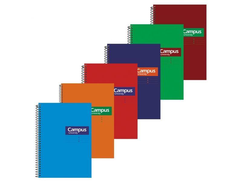 Cuaderno Campus A5 4mm. tapa dura
