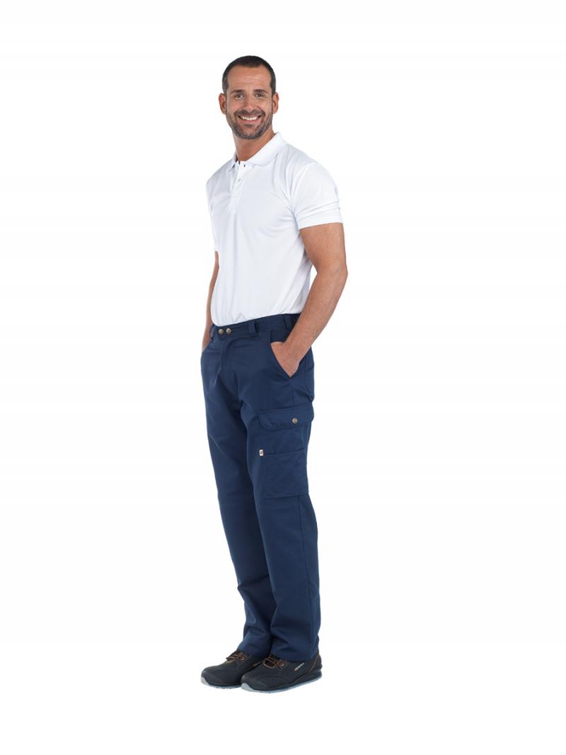 Pantalón unisex multibolsillos marino