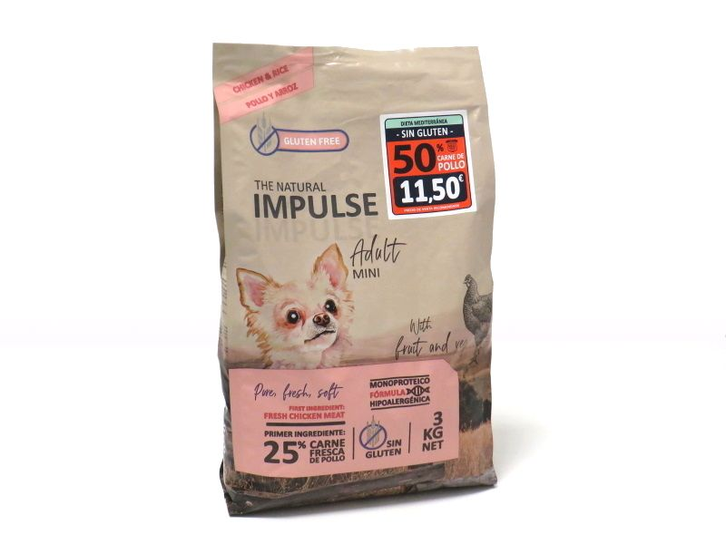 Impulse dog adult mini pollo y arroz