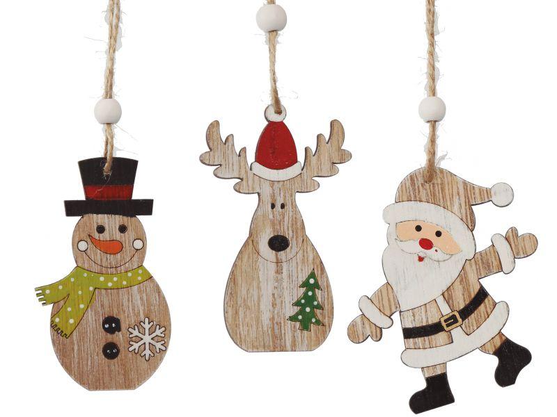 Colgante navideño de madera