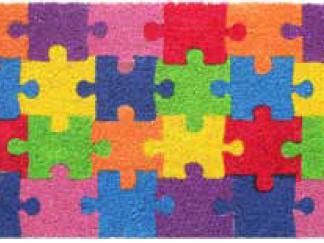Felpudo de coco puzle
