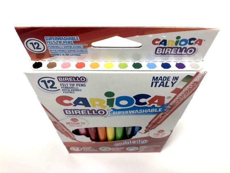 carioca rotulador punta media y fina 12 colores 2