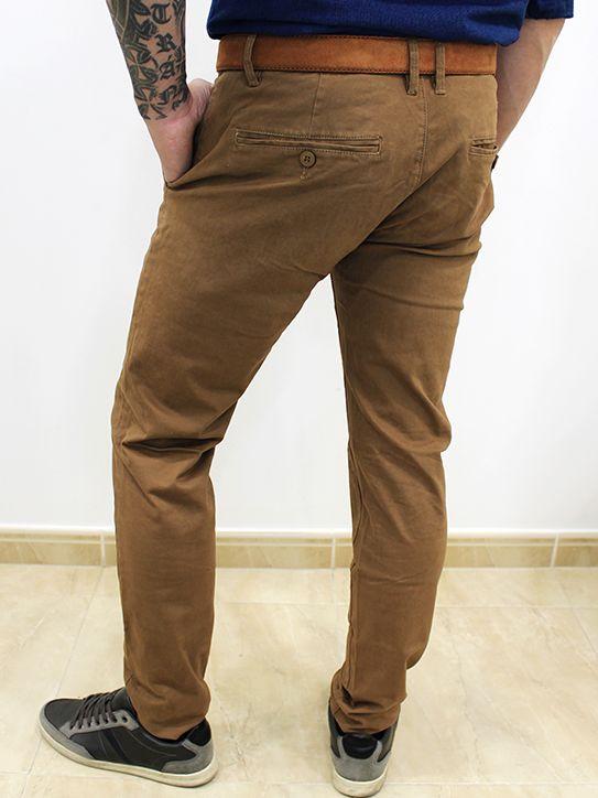 Pantalón Chino Slim Fit Marrón