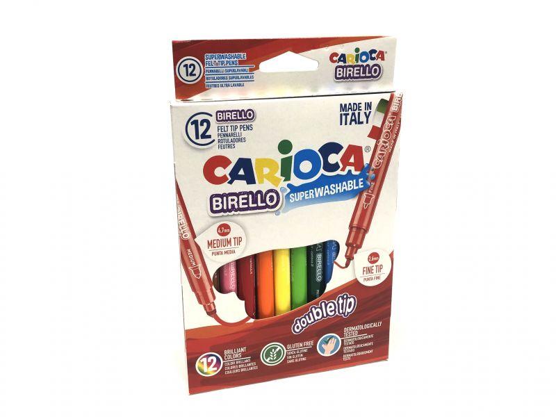Carioca Rotulador punta media y fina 12 colores