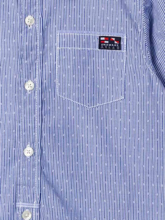 Camisa niño, azul estampada