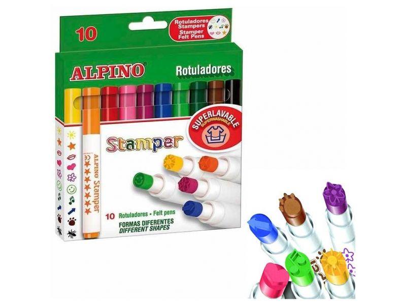 Alpino Rotuladores Stamper 10 colores