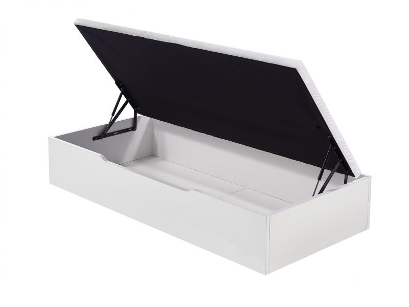 Canapé lateral blanco abierto