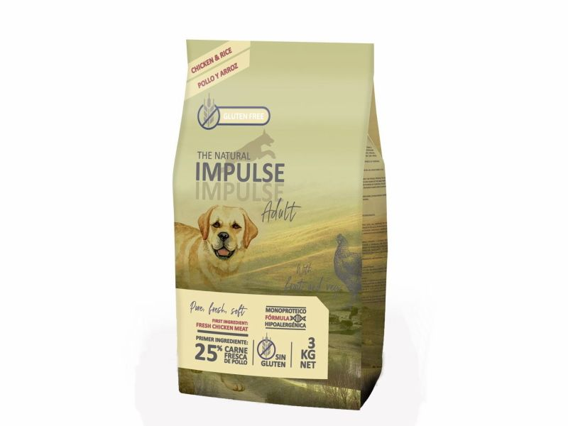 Impulse dog adult pollo y arroz