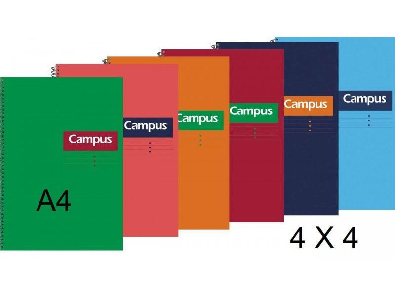 cuaderno campus A4 tapa dura 4x4mm. 80 hojas