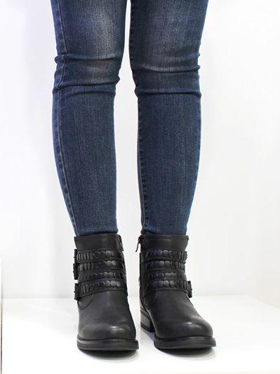 Bota Hebilla Negro F1608-1