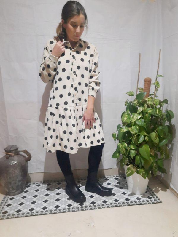 vestido micropana lunares