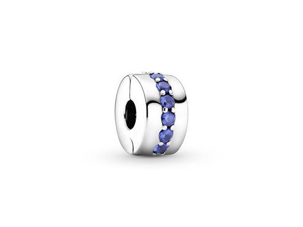 Clip Pandora Brillo Azul