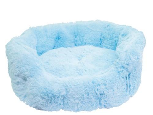 Cama peluche azul